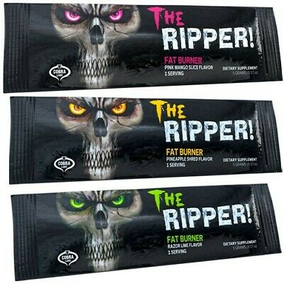 Cobra Labs The Ripper Fat Burner Weight Loss Energy 10x5g Sachets BBE: 10/ 2019