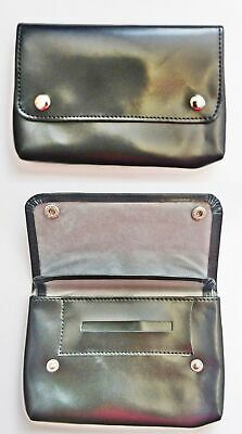 Tobacco Pouch Soft PU Shine Leather Fully Lined Black Colour Great Quality