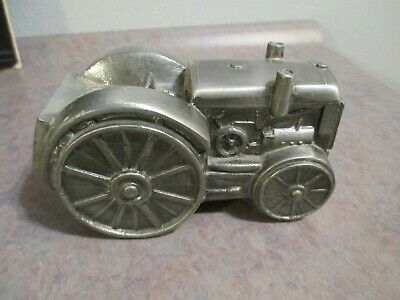 Vintage 1974 Banthrico Tractor Coin Bank Metal-Skyler-VERY GOOD-FREE SHIPPING