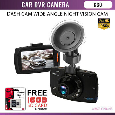 G30 Car DVR G-Sensor Camera 140 Degree Dashcam with Night Vision Full HD 1080P