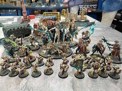 Warhammer Age Of Sigmar Ossiarch Bonereapers Army Painted- Feast of Bones+ Guard