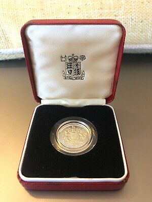 1983 Royal Arms Silver Proof One Pound £1 Coin Uncirculated Royal Mint Coin UK