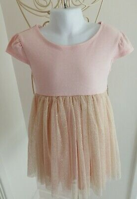 Girls age 4 glitter light pink dress by SWEET HEART ROSE hardly worn !!