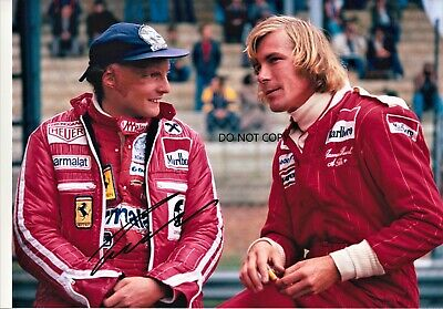Nikki Lauda,F1, A4 hand signed picture