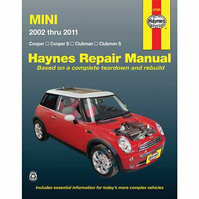 Mini Cooper and Cooper S 2002-2011 Haynes USA Workshop Manual
