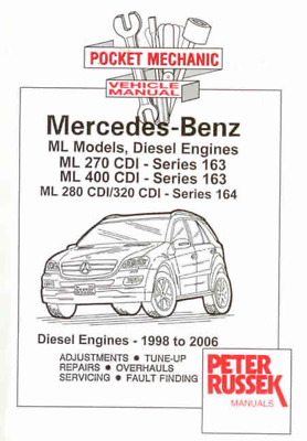 Owners Workshop Manual Mercedes ML Diesel CDI 1998-2006 New Service Repair