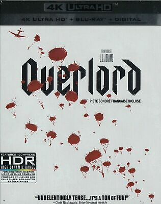 Overlord 4K ULTRA HD + BLU-RAY+ DIGITAL + SLIPCOVER - Brand New!