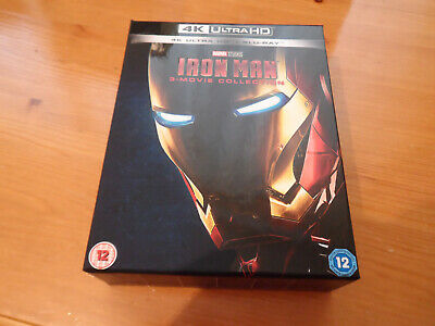 EMPTY BOX ONLY Iron Man Trilogy 3 - Movie Collection 4K Ultra HD Bluray EMPTY