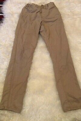 Primark Denim Co 7-8 Years Slim Light Brown Cargo Style Trousers