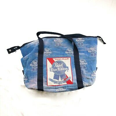 Pabst Blue Ribbon Canvas Distressed Duffel Bag