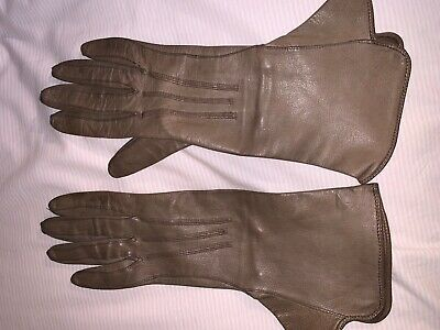 Vintage 1920s gloves, Art Deco 100% leather grey, small, original, no damage