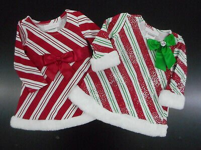 Infant Girls Bonnie Baby by Bonnie Jean Assorted Holiday Dresse Sizes 3/6 & 6/9M