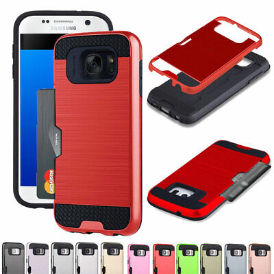 Card Wallet Bumper Rugged Case Cover For Samsung Galaxy J7 J5 J3 Prime ON7 ON5