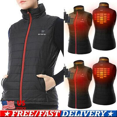 Electric USB Winter Heated Warm Vest Men Women Heating Coat Jacket Clothing Coat