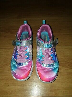 2019 Girls Clarks Sketchers Kids size 13 Air-Cooled Memory Foam Light Trainers