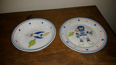 Whittard Of Chelsea Rocketman Plate And Rocket Bowl