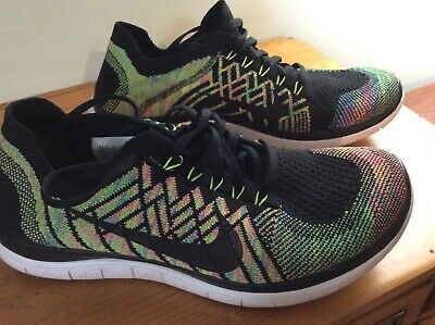 NIKE FREE 4.0 Flyknit Multi Color Mens Running Shoes 653684