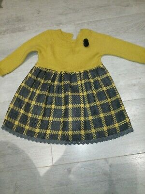Spanish Knitted Style Girls Dress Age 2-3