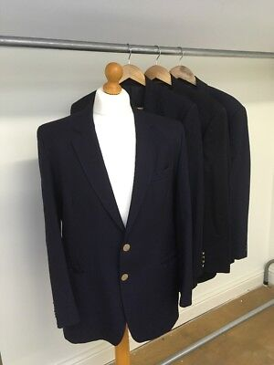 Ex-Hire Job Lot of Men's Navy Suit Jackets/Blazers and a Two-Piece Suit Costume