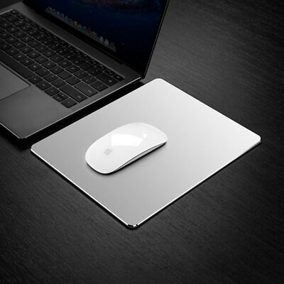 Metal Aluminum Mouse Pad Mat Hard Smooth Magic Thin Mousepad Double Side