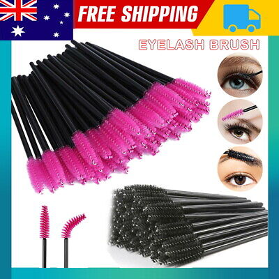 100pc Disposable Mascara Wands Makeup Brush Eyelash Brushes Spoolies Applicator