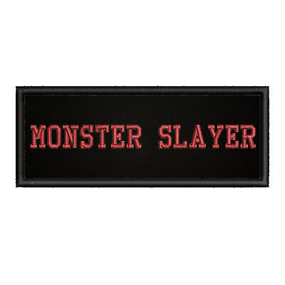 Monster Slayer Horror Movies Embroidered Patch Iron-On / Sew-On Motif Applique