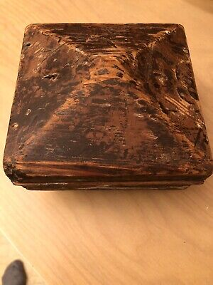 Antique Newport New Post Topper Pine Wood Square 5 1/2 By 5 1/2""