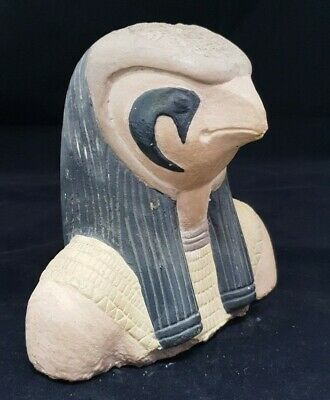 Rare ANCIENT EGYPTIAN ANTIQUES EGYPT STATUE Of GOD HORUS Protection 1428-1125 BC