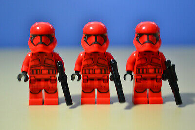 Lego Star Wars Sith Trooper Minifigure Lot of 3 from set #75256 New.