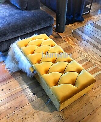 * STORAGE stool, ottoman chesterfield window bay seat or coffee table FOOTSTOOL