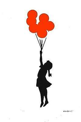 BANKSY - LIMITED EDITION #10 of 200 * FLYING BALLOON GIRL*