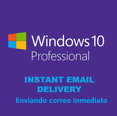 Microsoft Windows 10 Professional Activate Product Key win 10 pro INSTANT 32/64