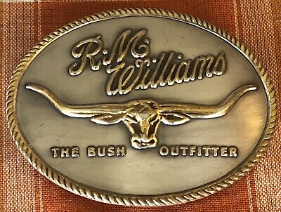 R M Williams Belt Buckle The Bush Outfitter Solid Brass
