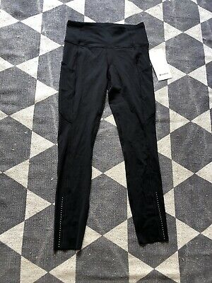 """Lululemon, Fast And Free HR Tight 25"""", Size 6, Black"""