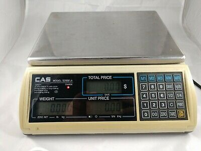 Cas S2000JR 30LB x 0.005 LB  Price Computing Retail Scale LCD Display