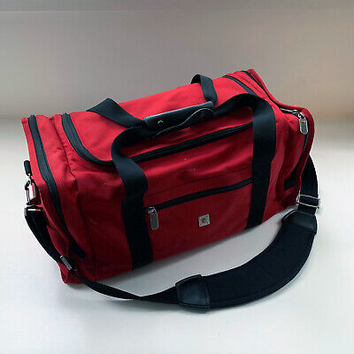 Victorinox Swiss Army Canvas Carry On Bag Travel Tote Shoulder Strap Bag