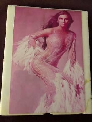 Cher in Time Cover Bob Mackie Gown Embossed on Antiqued Marble Slab