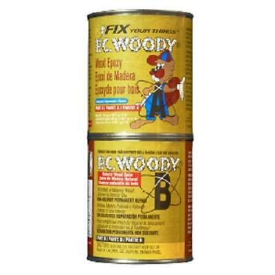 PC Products PC-Woody Wood Repair Epoxy Paste, Two-Part 48oz in Two Cans, Tan