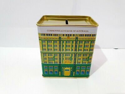 CBA Vintage COMMONWEALTH BANK OF AUSTRALIA Green Heritage Building TIN MONEY BOX