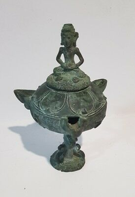 Antique Metal Buddha Oil Burner