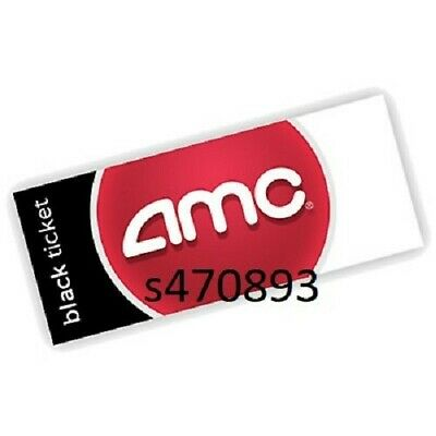 One AMC Black Ticket ONLY with pin Reserve Seats Online fast same day e-delivery