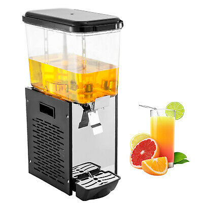 Commercial Juice Dispenser Single Tank 18L Black Stainless Steel Juice Family