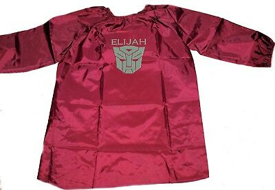 Kids / Teen Personalised Art Smock / Paint Shirt - Transformers -First name FREE