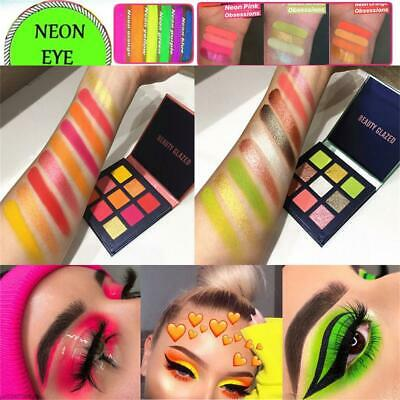Makeup 9 Colors Neon Eyeshadow Matte Mineral  Eyeshadow Palette Shimmer Shining