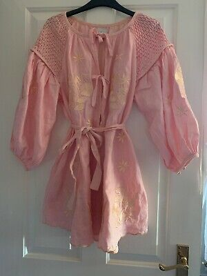 Innika choo Smocked Embroidered Dress One Size RRP £325