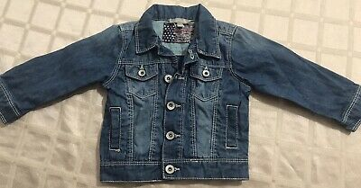Baby Boys Grain de Ble French Brand Blue Denim Jean Jacket Size 12 mths Ex Cond