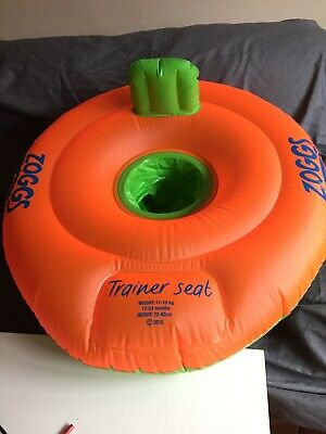 Zoggs Baby Swimming Trainer Seat 12 - 18 Months - Orange and Green