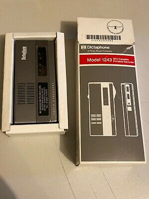 Original Dictaphone - Model 1243 Portable Voice Recorder With Original Packaging