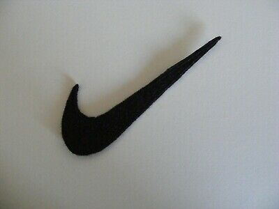 Hand madeBlack Nike swoosh logo machine embroidered iron on applique/patch/motif