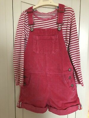 Mini Boden Girls Curduroy Short Dungarees And Top Size 5-6 Years